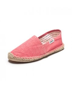 Chambray - Red Espadrilles for Men from Soludos - Soludos Espadrilles