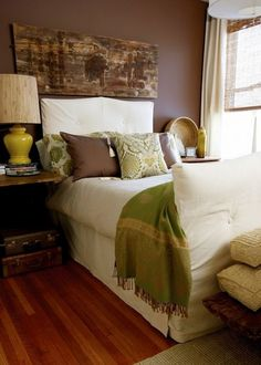 Love the brown and cream with an accent color.