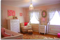 Pink Shabby Chic Girls  Nursery