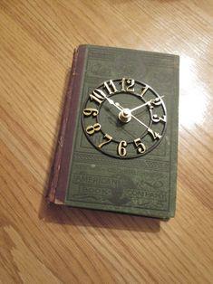 I made a book clock:) Pin if you like it!  #books #clock #DIY