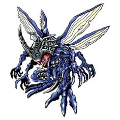 Kabuterimon:   Champion level Insect digimon