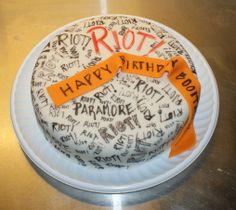 paramore birthday cakes