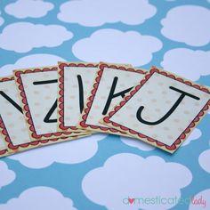 Free Printable Alphabet Cards {+25 Games}