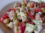 tuna and chickpea salad recipe, low glycemic!
