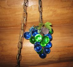 Swag Lamps Retro Vintage Lighting | Retro Hanging Grape Cluster Swag Lamp Blue & Green Lucite Grapes ...