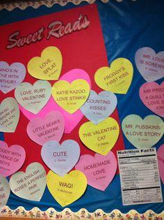 Valentine Day Library Bulletin board