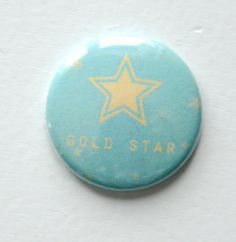 Gold Star Best of Both Worlds Flair Button by Two Peas @2peasinabucket
