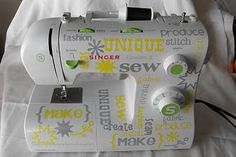 Personalizing your Singer sewing machine. #tutorial