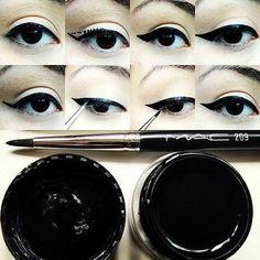 cat-eye liner tip
