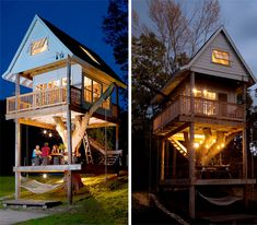 Three-Story Tree House is a Dream Backyard Getaway