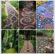 DIY Beautiful Zen Stone Paths.
