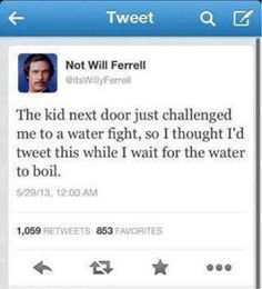 omg! hahaha not having a water fight with will:D