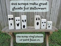 turn scrap wood into ghosts!! Perfect, since I have leftovers from the welcome sign