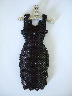 """Little Black Dress"" pendant."