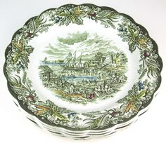 """Heritage Pattern by Ridgway Pottery - Dinner plate - 9 7/8"""" - Fish Market Toronto"""