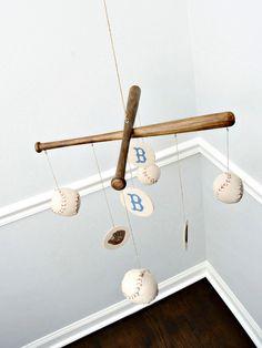 Baseball Nursery Mobile