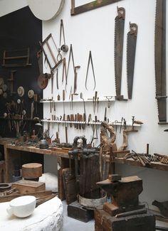wood working and ceramic studio one day