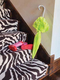 Zebra Carpet Runner - Step Up Your Staircase Design on HGTV