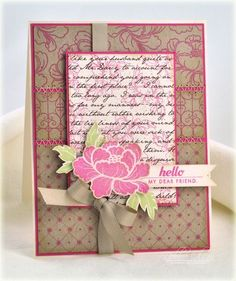 Lovely stamping and colour palette. #cards #spring #scrapbooking
