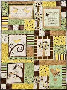 "FREE quilt pattern: ""Chirp! Panel Quilt"" (fromRobert Kaufman Fabrics)"