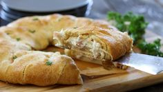 This recipe puts a delicious and easy spin on a family favorite dinner. leftover turkey, crescent ring, food, crescent rolls, crescents, bleu crescent, chicken cordon bleu, dinner tonight, recipe chicken