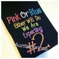 Pregnancy Reveal Announcement Pink Blue Either by AuntieDonnas