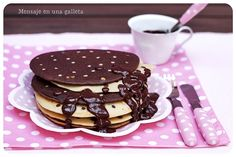 pancake a pois - dotted pancakes Guest post by #Mensajeenunagalleta blog