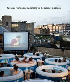 Awesome summer rooftop cinema in London!