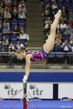 Ksenia Semenova on uneven bars, women's gymnastics, gymnast, WAG, Russia, Russian moved from @Kythoni Form, Grace, & Dance board http://www.pinterest.com/kythoni/form-grace-dance/ m.12.83 #KyFun