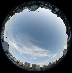 From our gallery of gorgeous sky photography; Darling Harbour fish-eye sky!
