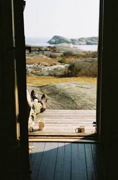 cabin, dream, the view, front doors, morning coffee, sea, place, mornings, front porches