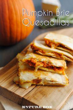 Pumpkin Brie Quesadillas