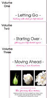Journey of a Move - Join Just Moved Ministry President, Susan Miller, in her home as she guides you through the process of 'Letting Go, Starting Over, and Moving Ahead' with your life after a move. Each volume of The Journey Of A Move can be viewed independently or as a complete series of 3 volumes. This series will be a gift of welcome encouragement for friends and neighbors who have relocated.