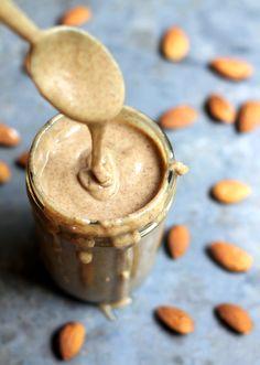 Homemade Almond Butter with Vanilla Bean, Honey & Sea Salt