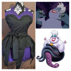 PRE ORDER Ursula Little Mermaid Apron Disney Octopus  on Etsy, $40.00