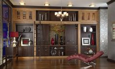 BKC Kitchen and Bath built-ins: Medallion Cabinetry, Winslow door style