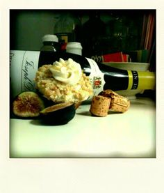 """""""'The Turkish Fig' is a fig cupcake with a walnut encrusted honey frosting and vanilla buttercream on top. It's drizzled in honey and sugar crystals."""" -- Recipes at click-through. fig cupcak, walnut"""