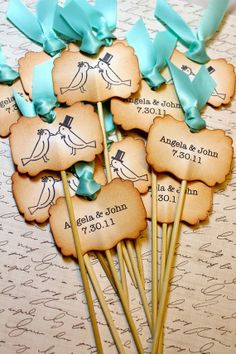 Love Birds Cupcake toppers