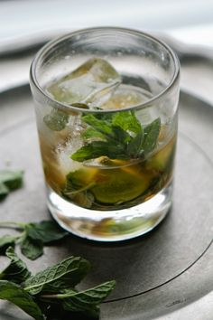Irish Whiskey Smash: Jameson + simple syrup + lime + mint