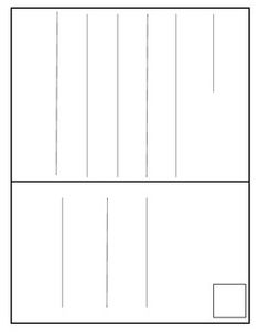 Een ansichtkaart, waar de kinderen op kunnen schrijven én tekenen