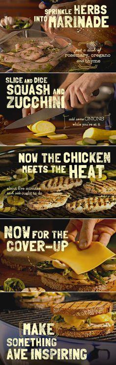Grilled Chicken Patty Melt recipe #cheese