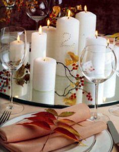 autumn candle centerpieces