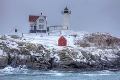 Cape Neddick Light in York, Maine