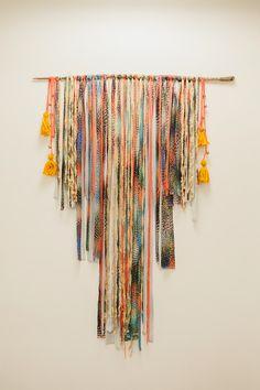 DIY wall hanging // tapestry