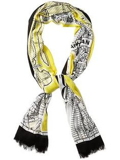 Kate Spade New York New York Map Scarf