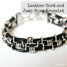 Make a Jump Ring and Cord DIY Leather Bracelet