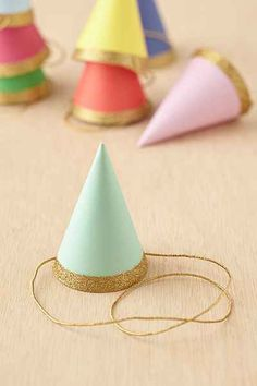 Glitter Party Hats S