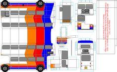 Magicbus Bluebird paper bus model - Stagecoach Fan Club. DIY paper craft