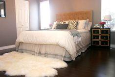 Gray Bedroom with Dark Floors - by Marcus Design Inc