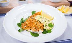 @Home and Family - #Recipes - #CristinaCooks #PotatoEncrustedHalibut | #HallmarkChannel